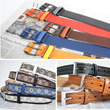 Belt for men/fashion casual belt/leather belt/buckle belt/black brown red white/Korean style/christmas gift