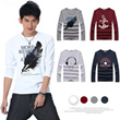 2014 New![buy 2 free shipping][Men's Round neck T-shirt]Fashion long Sleeve Casual boy T- Shirts/ cotton tops/ All-Purpose Style leisure wear/ Mens wear