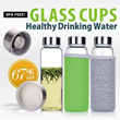 Local Seller:Korean Best Selling Glass Water Bottle/ High borosilicate glass bottle/ Healthy drinking bottle/ Glass Water Bottle/ BPA free
