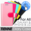 [Ladouce] TIENNE Diary Case for Galaxy(S5/S3/S4/S4 Active/NOTE2/NOTE3/NOTE3 neo/GRAND/S4 mini/MEGA 6.3/grand2) / iPHONE(5/5S/5C/4/4S) / LG Optimus (G2/G pro/G pro2/G) (6 Color)