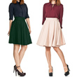 [BUY 1 GET 1] Women Fashion Midi Flare Skirt / Available 10 Colors / All Size Fit to XL / Good Quality / Office Skirt / Casual Skirt / Rok Wanita