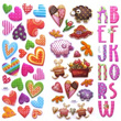 Stickers for all occasions! Many Designs: Fabric Glitter and Sponge Fluffy