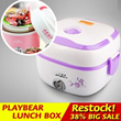 Free Gift utensil set Stainless steel liner double layer thermal multifunctional mini rice cooker Lunch box Safety Certification lunch box