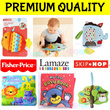 FREE COURIER! Cloth Books Soft Toy Story*Baby Shower Birthday Xmas Gift*Activity Play Mat*Children