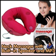 Neck Massager with Built-in Speaker and MP3 Connector  at $17.90 (Worth $88). Two Colours Available.