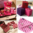 [HEEgrand] Luxury Jewelry Box/ Must have for Jewelry Organizing! 6Types to Choose/Lovey Red Pink Purple Colors 022