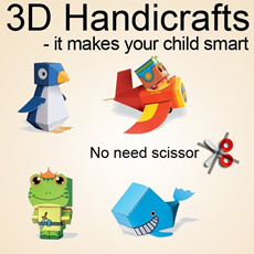 New! First 3D Handicrafts: It makes your child smart and creative~