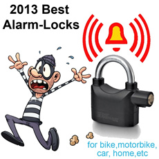 Thief Horror:High pitch Alarm-Lock(PadLock U-Lock)for Bicycle/bike House Motorbike Gates