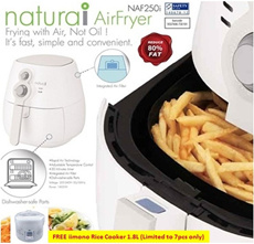 Air fryer [Naturai] Premium Air Fryer with Safety Mark approval! Store Pick-up available! Stocks in Town!!!