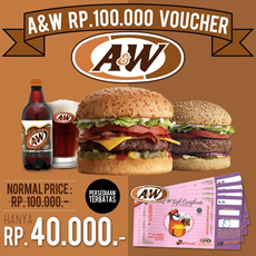 [Superday Event] Only Rp40000 ! AW Gift Certificate RP100000