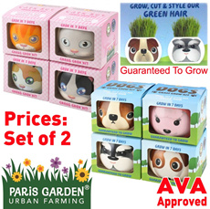 {New Launched Designs Promo!} PARIS GARDEN Plants-Gift Collection ~ Adorable Cats / Dogs designs~ Grow Hair for them today at only $15.90 for TWO!!