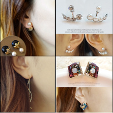 ★ S$ 3.3 ★ Swarovski elementsCubic zirconia pearlsilver earring /Made in Korea/Handmade prompt and safe delivery!
