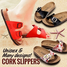 【23/3 Update New Design】2014 cowhide insole 90 styles cork slippers summer beach flip flops slippers comfortable flip shoes