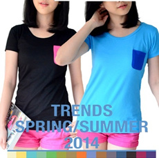 !!NEW TREND!! ZA TEES COMBINATION POCKET-AUTHENTIC Atmosphere-TEES RAINBOW-SUPER SOFT MATERIAL-PREMIUM QUALITY