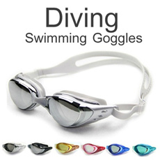 ▶Anti-UV swimming goggles◀GCB GCC-Fully adjustable strap suitable for both kids and adults/ 6 colors available