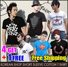 ★Free Shipping★【4 Buy + 1 Free Get】2014 New Arrivals Korean Mens Fashion cotton short sleeve T shirt/exo/BIGBANG/G-DRAGON/GD/hat/jacket/ Outerwear/pants/coat/cardigan/knit/shirt/Parker/M ~ XXL size