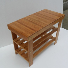 ♥ Shoe Rack with Seat  ♥  3 different sizes / Bamboo treated wood