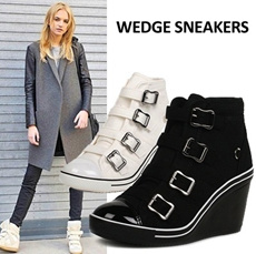 [24HR Today Special Price] Wedge Heels Sneakers Shoes collection ★UP TO 75% OFF★ Comfortable sneakers Buckles - Hot Looks for Even Less!