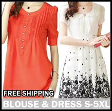 S~XXXXXL SIZE★2014 New Arrivals High Quality Fashion Style Big Size/Figure Flattering/Dress/Blouse/Plus Size