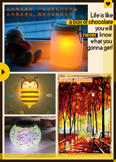 Home n Living ~ Sun Jar/Solar Powered Table Lamp/DIY Numeric Painting Art/DIY Elf Wall Light