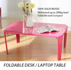 MIMOMO - FOLDABLE SOLID WOOD DESK  /LAPTOP / COFFEE TABLE AND TABLE ACCESSORIES