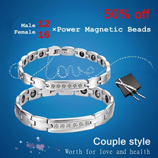 Titanium Magnetic Tourmaline Fashion Sports Health Magnets  Couple Style Bracelet ST-08