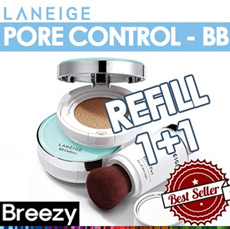 BREEZY ★ 2014 Laneige New Arrival! [LANEIGE] BB Cushion [Pore Control] SPF50+ PA+++/ Brush Pact / Watery Cushion Concealer / 2014 New / Cushion / Amorepacific /