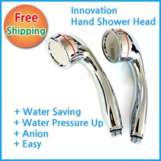 Hand Shower Head Anion Water Saving Water Pressure Up ShowerHead
