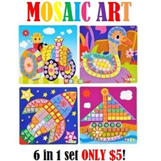 STUDYBABY Mosaic Art [ 6 in 1 set ONLY $5! ]