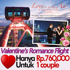 [30% OFF]★Singapore Flyer Romance Flight (couple)