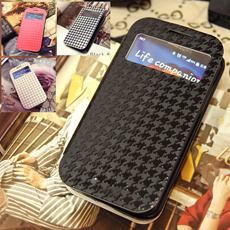 [Hound Tooth Check]Pied de coq View Cover case GALAXY S5/GALAXY S4/GALAXY S3/GALAXY Note3/GALAXY Note2/GALAXY Note1