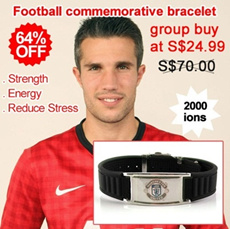 F00 Football Memorabilia power magnetic energy titanium health sport football bracelet