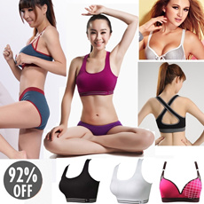 *Restock* ♥Buy 3 Free Shipping♥ No Rims Super Gathered Sports Bra/ Seamless Yoga Top/ Natural Comfortable Bust Up