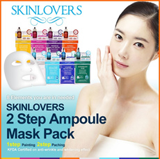 【SKINLOVERS】Korean Essence Mask Sheet Pack 2Step poule + Mask Sheet