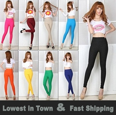 Korean Candy Color High Waist Leggings