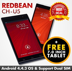 New Launch Special Deal: Buy Redbean CH-U5 (quadcore) 5.5inch QHD IPS Gorilla Glass Screen | FREE one set of Ainol Numy 3G Vegas 7.0 inch HD Tablet 3G with WiFi | Limited set only