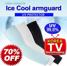 [ICE COOL] Korea made Sunblock Cool Arm Sleeves/UV Protection/Golf/Cycling/Tennis/Badminton/Jogging