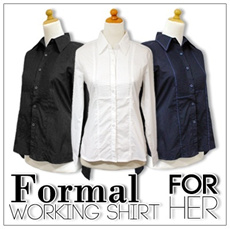 [SUPER SALE]★NEW FORMAL WORKING SHIRT FOR WOMEN ★SHORT / LONG★HIGH QUALITY★ MANY COLOURS A