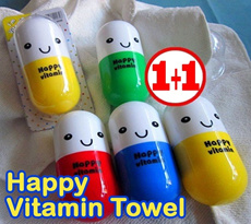**Big Sale**Buy 1+1**Travel essential vitamins towel cassette pills small
