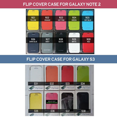 Flip  cover case / battery / charger for SAMSUNG GALAXY NOTE 2 N7100 / N7105 / S3 I9300 / I9305