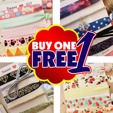 [buy 1 get 1 free] 5pcs gift pack high quality trendy hair ties hair band bracelet hairtie hairbands scarfs