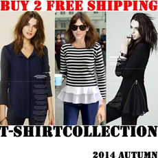 BUY 2 FREE SHIPPING/22th Oct 2014 New arrivals/ women's dress/ casual fashionable style blouses/ long-sleeved chiffon shirts/ high quality and low price dress