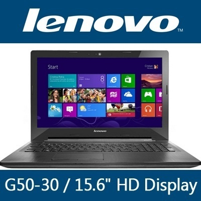Lenovo G50-30 15.6inch HD Display Intel Celeron N2820 (2.13GHz)/ 500GB HDD / 2GB RAM / Preload Windows 7 Pro