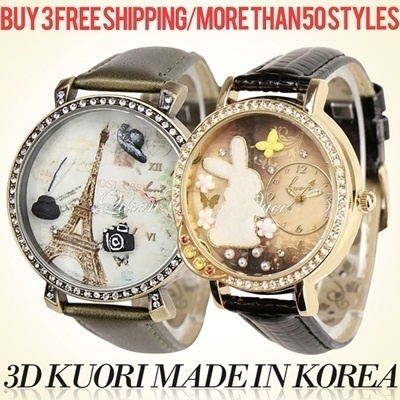 PROMO!!![3D Kuori Watch] XMAS GIFT_Fashion trend watches from Korea_Made in Korea_35model