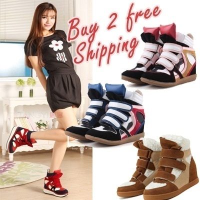 【Buy 2 Freeshipping】New Styles Arrival Brand Style/Wedge Heels /Inner heels/ Sneakers Shoes // HIGHT