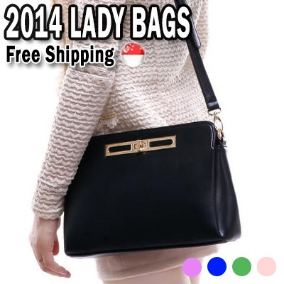 【27/8 New Updated】【Free Shipping】★Faux-Leather Cross Bag★2014NEW★ Tote Bag★Fashion Simple/Modern Bag/Japan LOCKER Hand Bags/Women Shoulder Bag/Working Bags Clutch