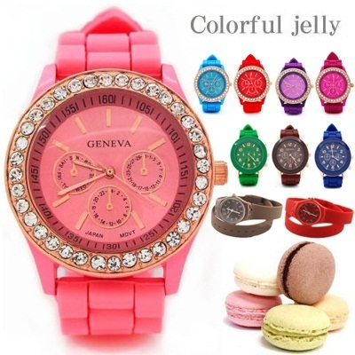 *FREEshipping*[HEEgrand] New Candy Color Watches/ Unisex fashion Watches Collection ZZB064