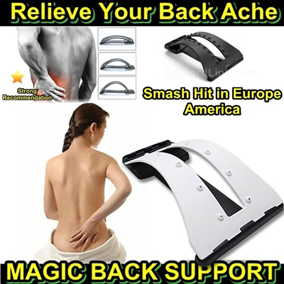 RELIEVE BACK PAIN - Magic Back Support THREE Level Adjustable Back Stretching Device