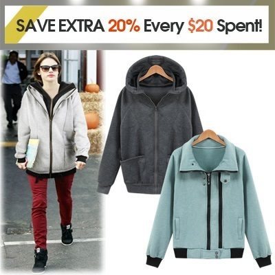 ★GET EXTRA 20% OFF STOREWIDE For Every $20 Spent! ★GET EXTRA 20% OFF STOREWIDE For Every $20 Spent! ★Free-Shipping] Hood Zip-up jumper 3-kinds/double hooddouble zip-up/hogh-neck /women fashion women c
