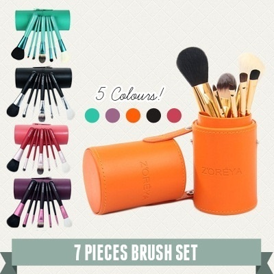 Christmas Gift ZOREYA 7 Piece Canister Makeup Brush Set